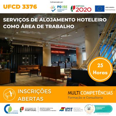 UFCD 3376 - Serviços de alojamento hoteleiro como área de trabalho